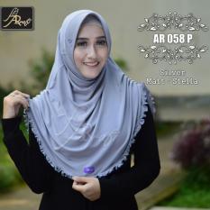 Harga Jilbab Instan Rumana Rempel Arrafi Warna Silver Ar58P Hijab Kerudung Khimar Bergo Fullset Murah