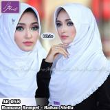 Harga Jilbab Instan Rumana Rempel Arrafi Warna White Ar58P Hijab Kerudung Khimar Arrafi Online
