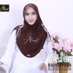 jilbab instan Rumana Serut kombi Arrafi (warna Dark Brown) - AR166 - hijab kerudung