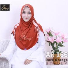 Harga Jilbab Instan Rumana Serut Kombi Arrafi Warna Dark Orens Ar166 Hijab Kerudung Syari Khimar Permata Fashion Muslim Gamis Bergo Rumana Serut Baru Murah