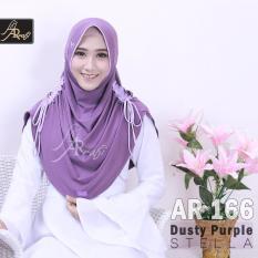 jilbab instan Rumana Serut kombi Arrafi (warna Dusty Purple) - AR166 - hijab kerudung syari khimar permata fashion muslim gamis bergo rumana serut
