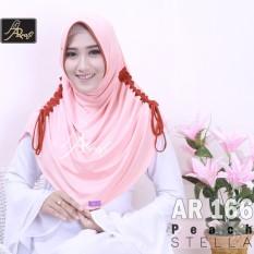 jilbab instan Rumana Serut kombi Arrafi (warna Peach) - AR166 - hijab kerudung syari khimar permata fashion muslim gamis bergo rumana serut