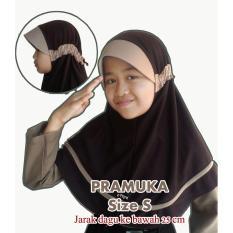 Jilbab instan serut anak sekolah Pramuka (SD-SMP)