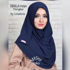 Dapatkan Segera Jilbab Instan Vanilla Pashtan By Linalivia Warna Navy Hijab Kerudung Pashmina Pasmina