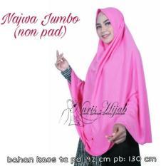Jilbab hijab khimar kerudung instan najwa pet XXL/Grosir/Agen/Supliyer/Termurah/Terlaris