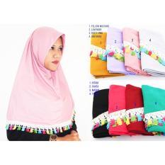 Jilbab Kaos Instan Najwa Tassel Renda / Kerudung Instan / Jilbab Hijab Instan