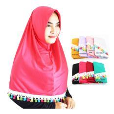 Jilbab Kaos Instan Najwa Tassel Renda / Kerudung Instan / Jilbab Hijab Instan Grosir