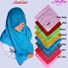 Jilbab Kerudung Hijab Segiempat - Arabia -- Pink Baby