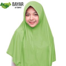 Jilbab Kerudung Instan - Jilbab Hijab Najwa - Jilbab Diskon - Kerudung Instan Kaos Katun TC - Hijau Daun