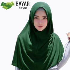 Jilbab Kerudung Instan - Jilbab Hijab Najwa - Jilbab Diskon - Kerudung Instan Kaos Katun TC - Hijau Tua