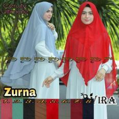 Jual Adzra Jilbab Khimar Two Layer Adzra Asli