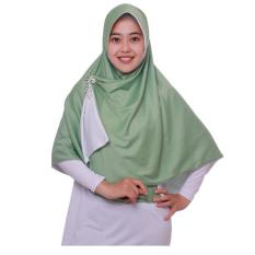 Jilbab Pricilla_Bolak-Balik 2in1_Mint and White_Ukuran XL