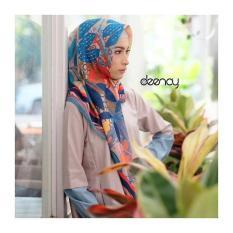 Jilbab Printing Segi Empat Halus Lembut Deenay Eksklusif Cloe Original