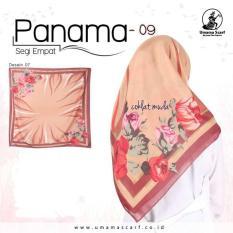 Jilbab Segi Empat Katun Motif Panama by UMAMA - seri : PANAMA- 09