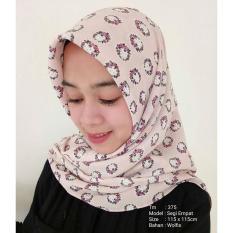 Jilbab Segi Empat ( TM-375 ) / Kerudung Segiempat / Jilbab Motif / Jilbab Murah