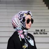 Harga Jilbab Segiempat Motif Bahan Wolfis Wf 17 Yknshop Online