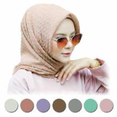 Beli Jilbab Segiempat Rubiah Dot Murah