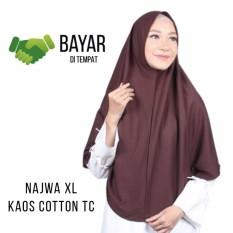 Jilbab XL Najwa Khimar Instan - Kerudung Hijab Instan XL Kaos Katun