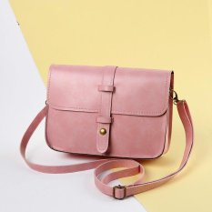 Harga Jimei Wanita Shoulder Bag Fashion Pu Kulit Messenger Casing Retro Tas Serbi Casing Bahu Pink Oem Online