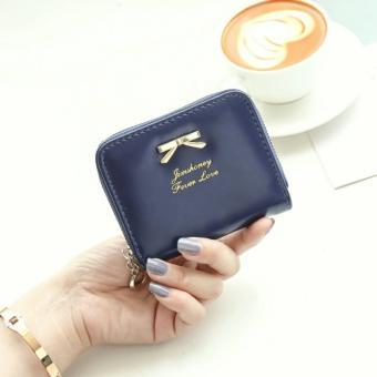 Promo Jims Honey - Dompet Kecil Fashion – Mini Ribbon Wallet (Navy) Murah