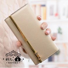 Jims Honey - Fashion Wallet Dompet Import - Kqueenstar (Gold)