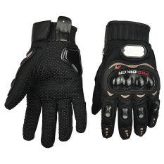 Gemerincing 2015 Pro pengendara sepeda serat karbon sepeda motor balap sarung tangan penuh ukuran M-XXL(Hitam)