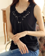 Spesifikasi Jingle Blouse Wanita Musim Panas Fashion Ladies Casual Sleeveless Shirt Plus Ukuran Pakaian Atasan M Xxl Hitam Intl Baru