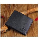 Review Toko Jk Dompet Pria Short Premium Pu Leather Black