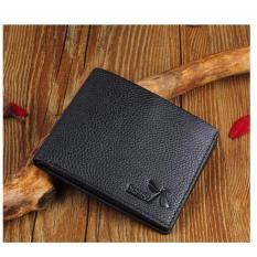 Review Jk Dompet Pria Short Premium Pu Leather Black