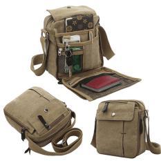 Harga Jk Vintage Canvas Messenger Bag Khaki Brown Jk Baru
