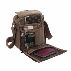 Beli Jk Vintage Canvas Messenger Bag Coffee Brown Pake Kartu Kredit