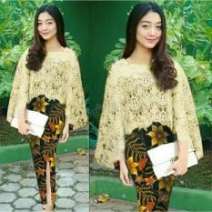 JN Store - Baju Murah/Cape Brokat/Batik Wanita/Kebaya Modern/Baju Wanita/Batik/Kutu Baru/Baju Batik/ Murah; Motif dan Warna real photo #Ukuran S, M, L dan XL