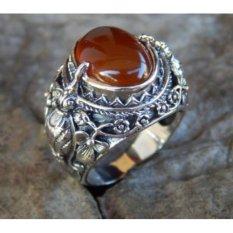 Harga Jnanacrafts Cincin Perak Motif Burung Cakrawake Batu Cornelian Termahal