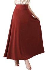 JO & NIC A-Line Maxi Skirt Rok Hijab / fit to XL - Cokelat