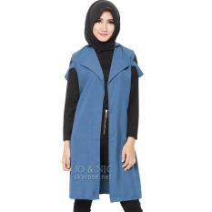 Harga Jo Nic Fiona Vest Tunik Wanita Allsize Blue Termurah