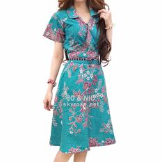 JO & NIC Jasmine Kimono Dress Batik Modern BT502 - Tosca