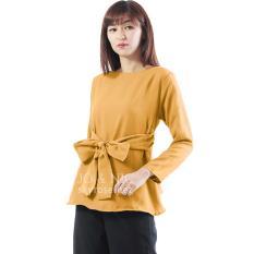 Harga Jo Nic Marina Ribbon Longsleeve Top Allsize Atasan Wanita Yellow Online