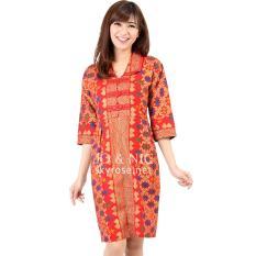 Jo Nic Morina Prodo Batik Dress Wanita Allsize Red Jo Nic Diskon