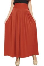 JO & NIC Pleated Flare Maxi Skirt - Rok Hijab - Fit to Big Size - Brick