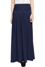 JO & NIC Pleated Flare Maxi Skirt - Rok Hijab - Fit to Big Size – Navy