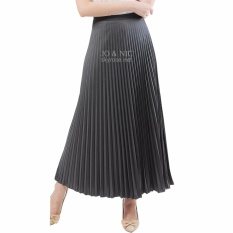 JO & NIC Pleated Long Skirts - Rok Panjang Lipit Fit up to XL - Grey
