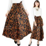 Spesifikasi Jo Nic Rok Batik Lilit Wrapped A Line Long Skirt Fit To Big Size Dan Harganya