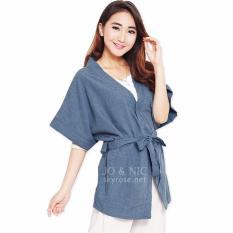 JO & NIC Thalia Kimono Kardigan Wanita fit to Big Size FJN413 - Blue