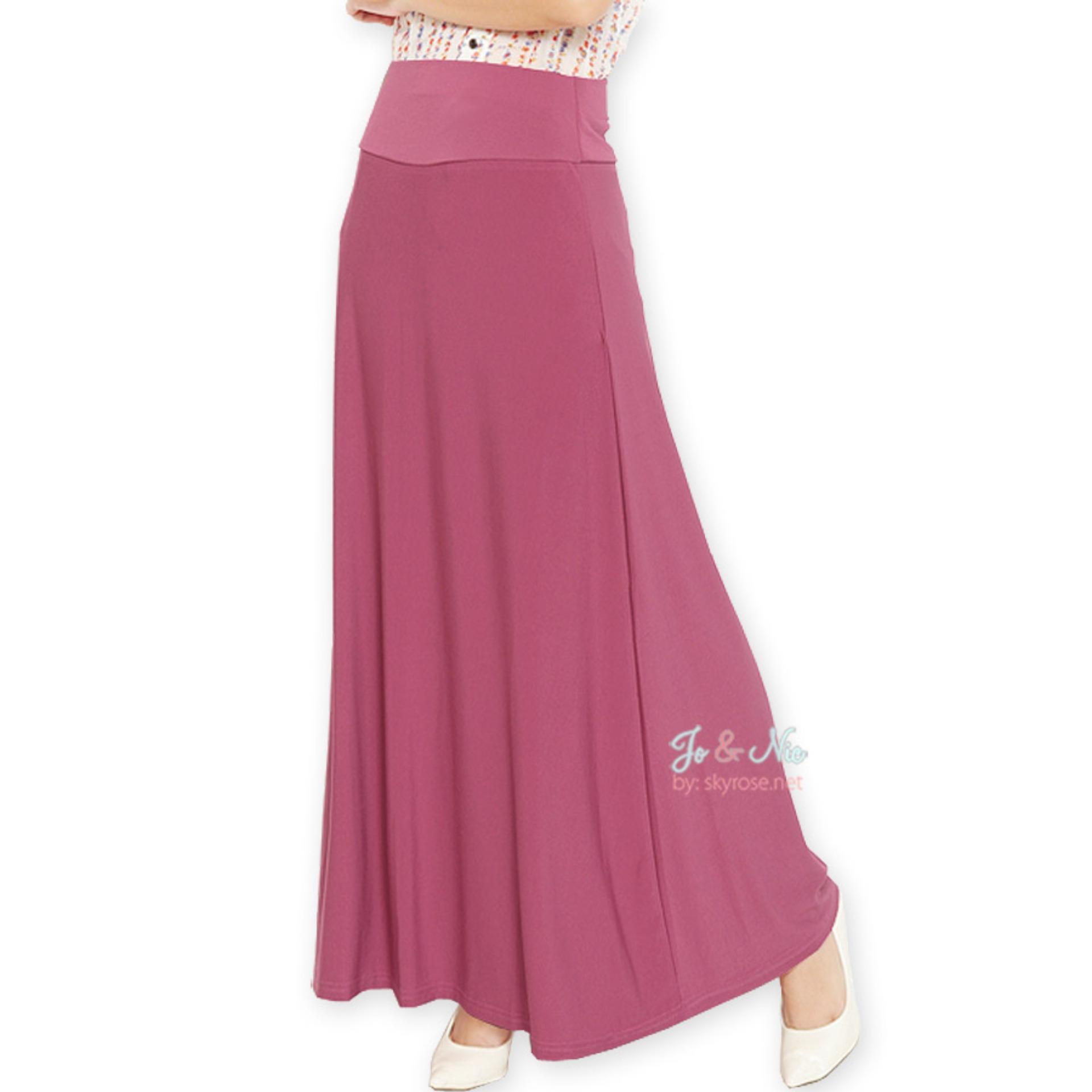 Aline Info Terbaru Promo Harga Berbagai Produk Terlaris Kulot Midi Nda Fjn822b Jo Nic A Line Maxi Skirt Rok Hijab Fit To Xl Dustypink
