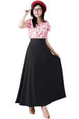 JO & NIC A-Line Maxi Skirt Rok Hijab / fit to XL - Hitam