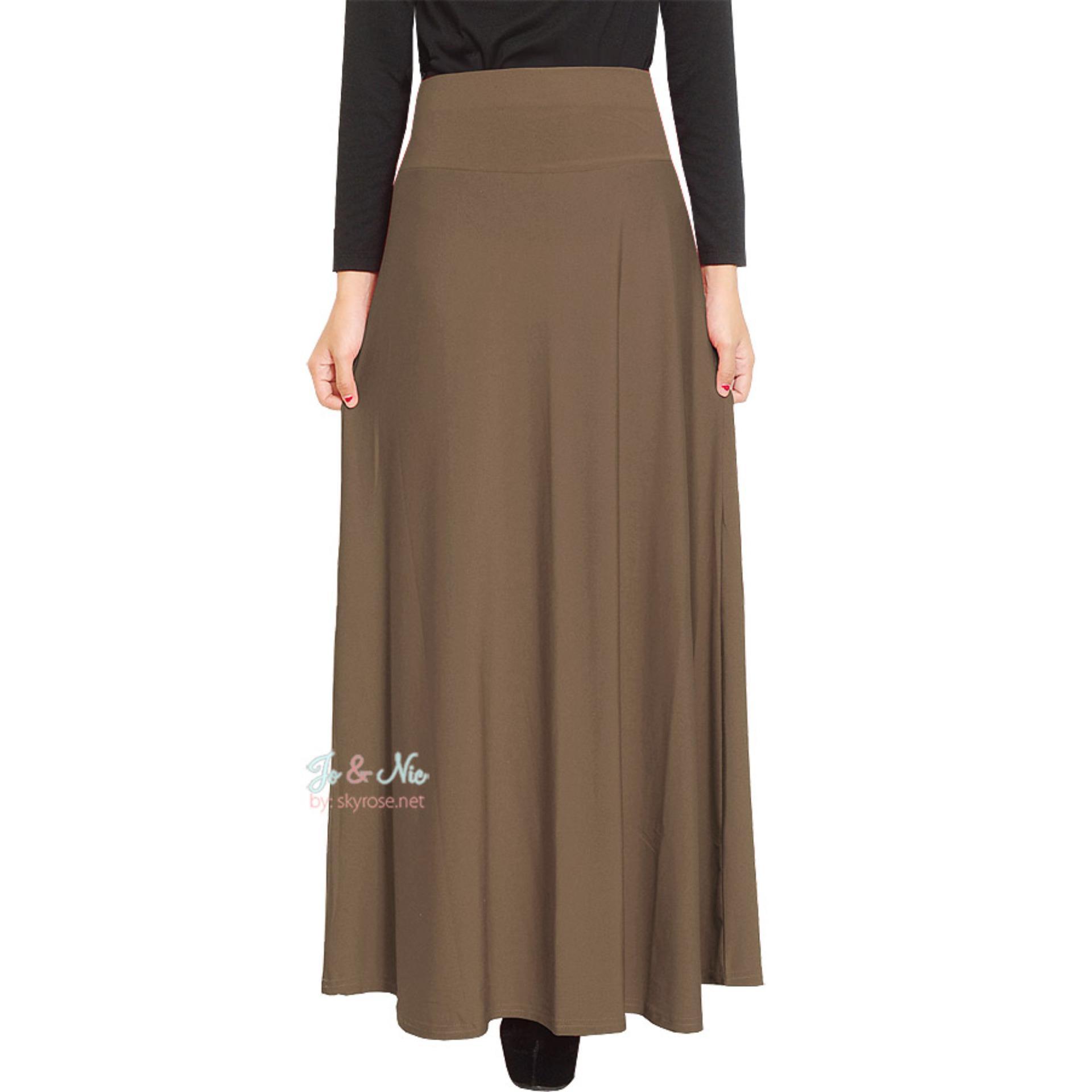 Produk Viral Jo Nic A Line Maxi Skirt Rok Hijab Fit To Xl Milo Kulot Midi Nda Fjn822b