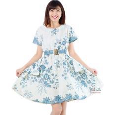 Spesifikasi Jo Nic Dress Batik Peplum Saskia Blue Murah Berkualitas