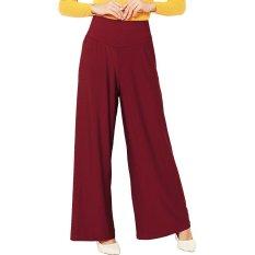 Toko Jo Nic Jersey Wide Pants Kulot Panjang Wanita Maroon Online