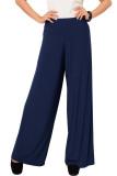 Beli Jo Nic Jersey Wide Pants Kulot Panjang Wanita Navy Pakai Kartu Kredit