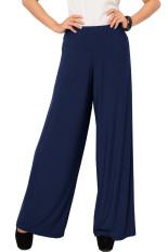 JO & NIC Jersey Wide Pants - Kulot Panjang Wanita - Navy